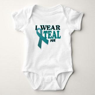 Ovarian Cancer Teal Awareness Ribbon Template T-shirts