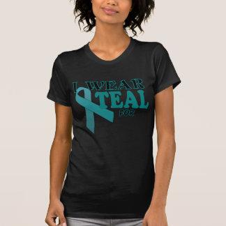 Ovarian Cancer Teal Awareness Ribbon Template Shirts
