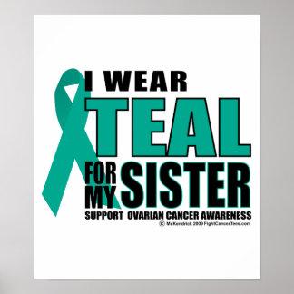Ovarian Cancer Teal For Sister Poster