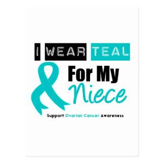 Ovarian Cancer Teal Ribbon For My Niece Postcard
