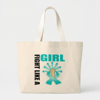 Ovarian Cancer Victory Fight Like A Girl Tote Bag