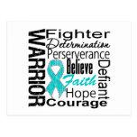 Ovarian Cancer Warrior Collage Postcard