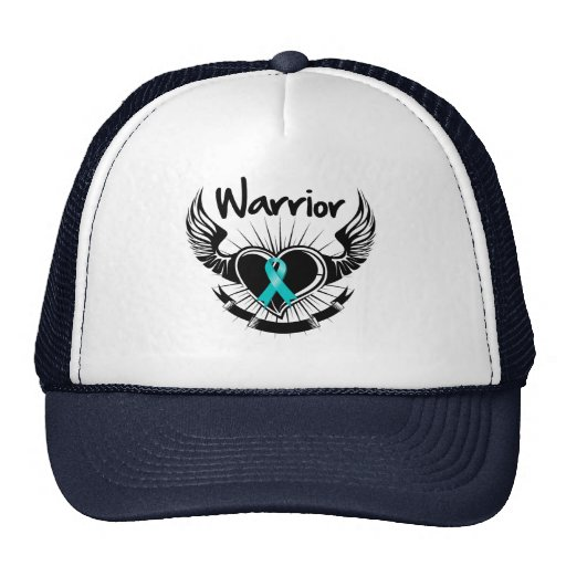 Ovarian Cancer Warrior Fighter Wings Hat