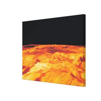 Ovda Regio on Venus Stretched Canvas Print
