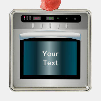 Oven graphic with personalized text christmas ornament