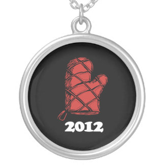 Oven Mitt 2012 copy.png Round Pendant Necklace