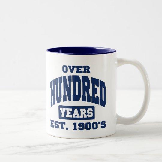 Over 100th Birthday Two-Tone Coffee Mug