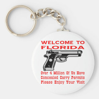 Over 4 Million Of Us Have Concealed Carry Permits Basic Round Button Key Ring