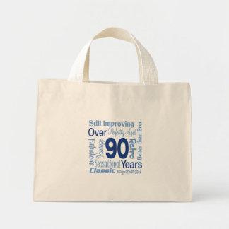 Over 90 Years 90th Birthday Mini Tote Bag