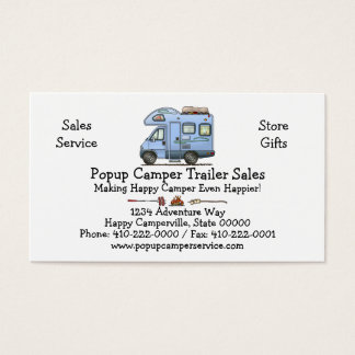 Over Cab Camper RV Business Card