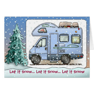 Over Cab Camper RV Holiday Cards