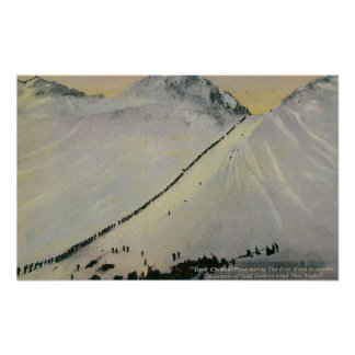 Over Chilkoot Pass During Gold Rush, Alaska Poster