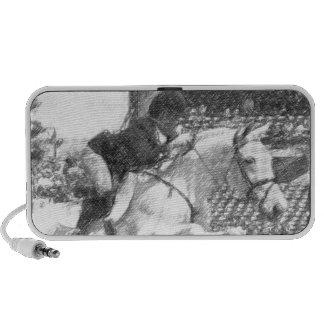 Over Easy - hunter jumper equestrian Notebook Speaker