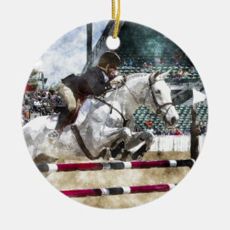 Over Easy Hunter Jumper Show Jumping Christmas Tree Ornaments