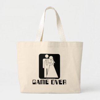 Over game Wedding Canvas Bags