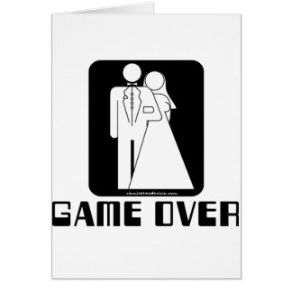 Over game Wedding Greeting Card