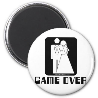 Over game Wedding 6 Cm Round Magnet