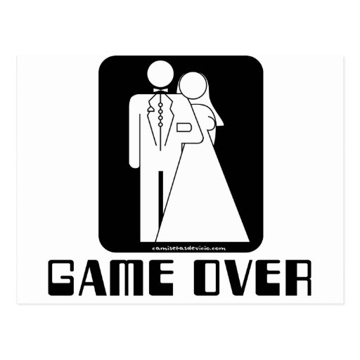 Over game Wedding Post Cards