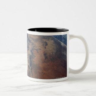 Over Gulf of Aden and Somalia Two-Tone Coffee Mug
