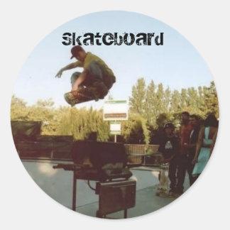 over the BBQ, Skateboard Classic Round Sticker
