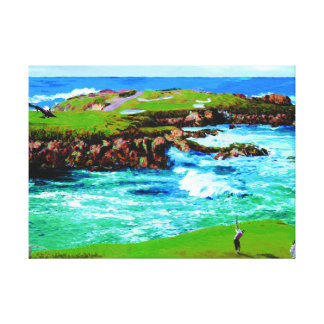 Over The Breakers At 16th on Canvas Canvas Print