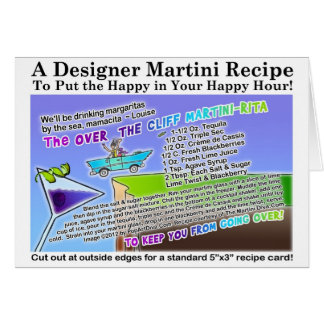 Over The Cliff Margarita Recipe Greeting Card