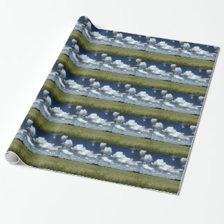 Over the fields we go wrapping paper