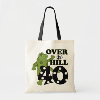 Over The Hill 40th Birthday Canvas Bags