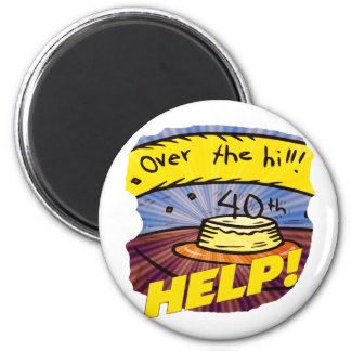 Over The Hill 40th Birthday Gifts Refrigerator Magnets