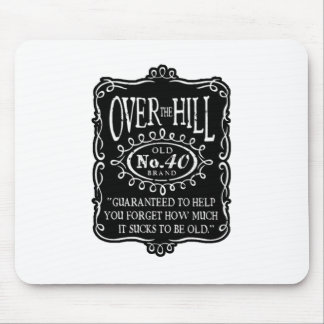 Over The Hill 40th Birthday Mouse Mat