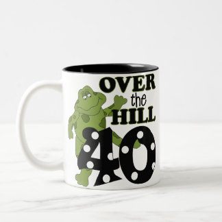 Over The Hill 40th Birthday Mug