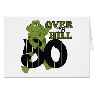 Over The Hill 50th Birthday Greeting Card