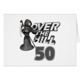 Over The Hill 50th Birthday Gift Greeting Card
