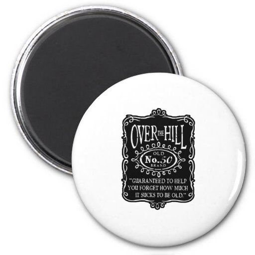 Over The Hill 50th Birthday Magnet