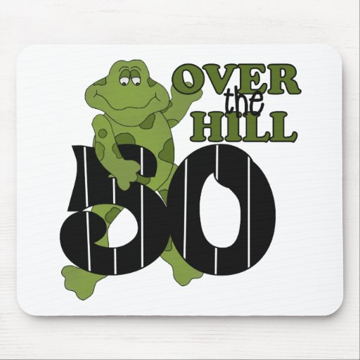 Over The Hill 50th Birthday Mouse Pads