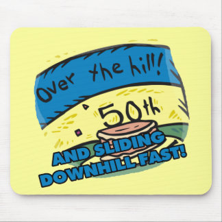 Over The Hill 50th Birthday Mousepad