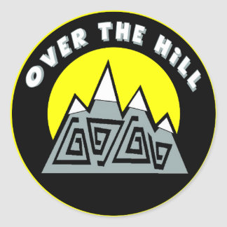 Over The Hill 50th Birthday Sticker