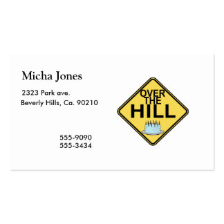 Over The Hill Birthday Business Card Template
