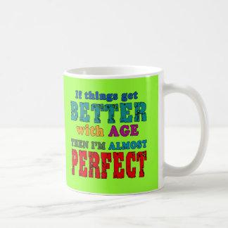 Over the Hill Birthday Humor Basic White Mug