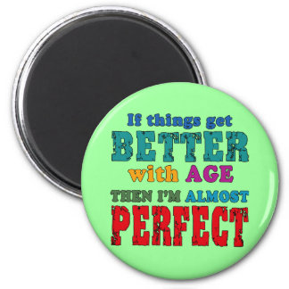 Over the Hill Birthday Humour 6 Cm Round Magnet