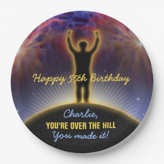Over The Hill Birthday Plate