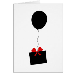 Over The Hill Black Balloon Birthday Card