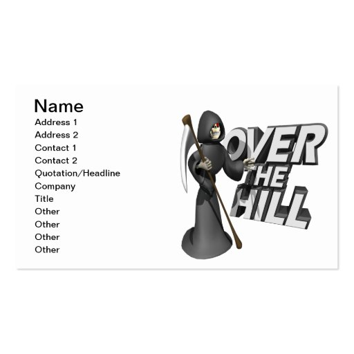 Over The Hill Business Card