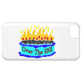 Over The Hill Flaming Birthday Cake iPhone 5C Cases