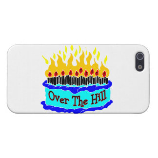 Over The Hill Flaming Birthday Cake iPhone 5/5S Cover