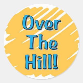 over the hill merchandise sticker