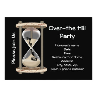 Over-the Hill Party 13 Cm X 18 Cm Invitation Card