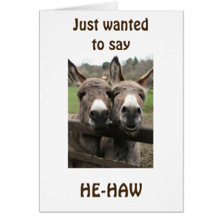 **OVER THE HILL** RIGHT AROUND THE CORNER HUMOR GREETING CARD