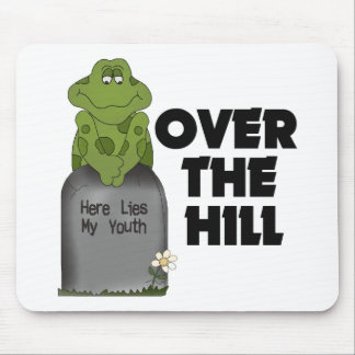 Over The Hill Tombstone Mouse Mat