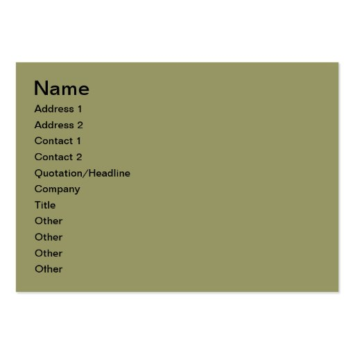 Over the hills business card template